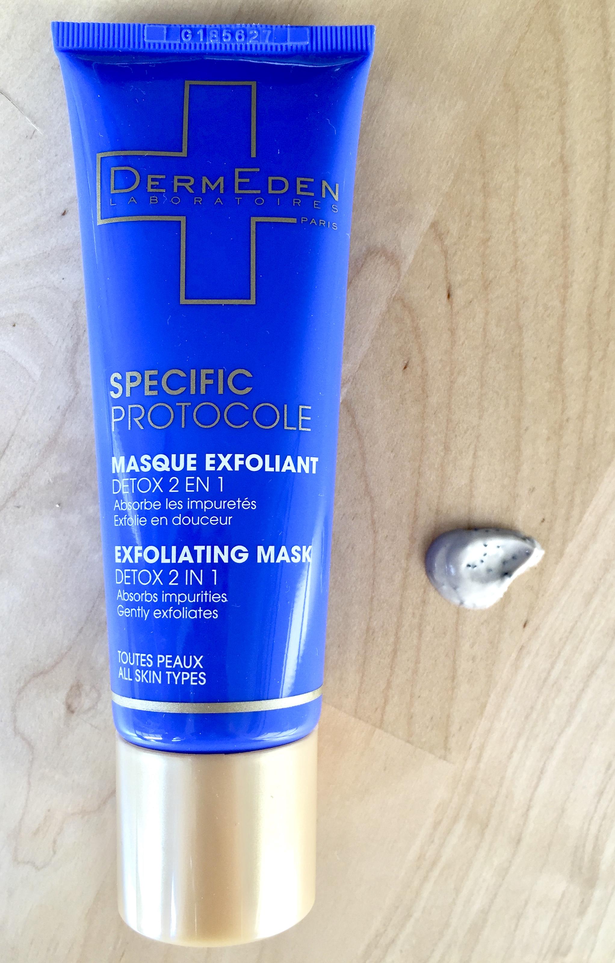 Dermeden masque exfoliant detox